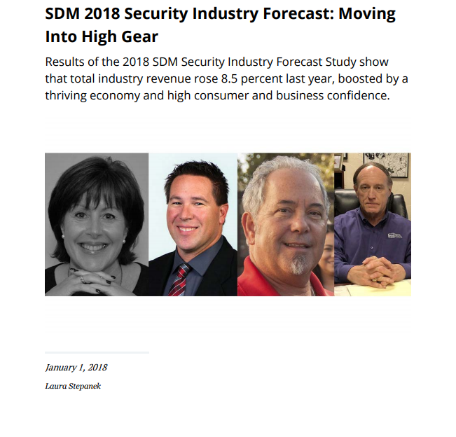 SDM-p1 SDM 2018 Security Industry Forecast: Moving Into High Gear